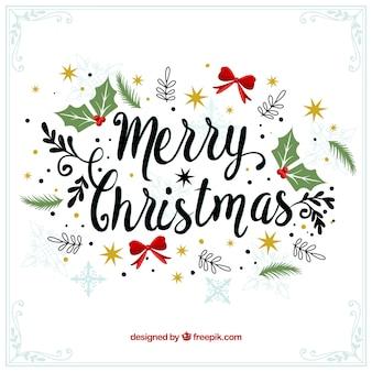 Vrolijke Kerst decoratieve vintage achtergrond