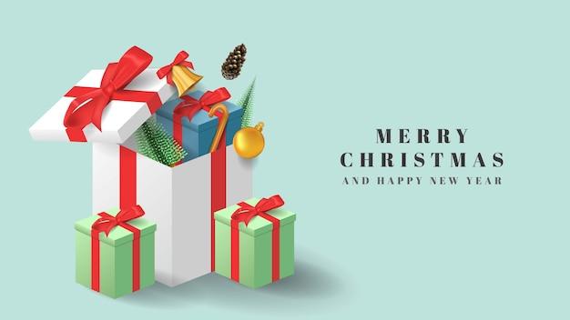 Vrolijke kerst geschenkdoos