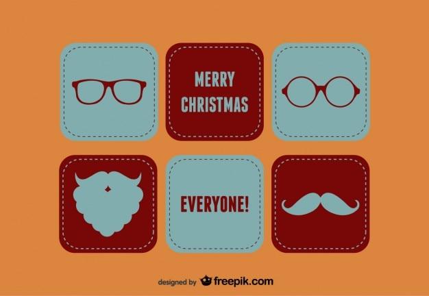 Vrolijke kerst santa set
