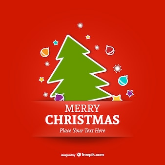 Vrolijke kerst sjabloon met boom
