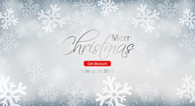 Vrolijke kerst winter verkoop brochure