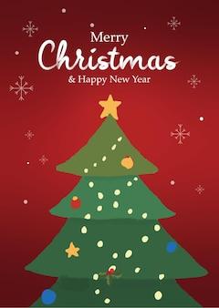 Vrolijke kerstboom achtergrond
