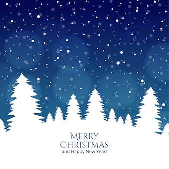 Vrolijke kerstboom en gelukkig nieuwjaar festivalkaart
