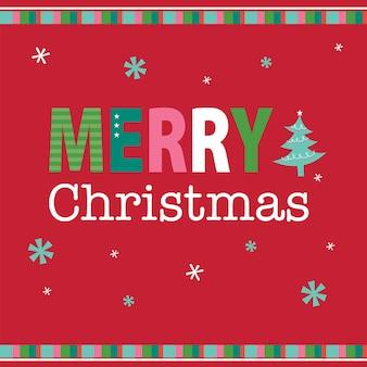 Vrolijke kerstbrief met prachtige decoratie