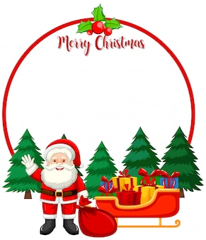 Vrolijke kerstkaart met santa