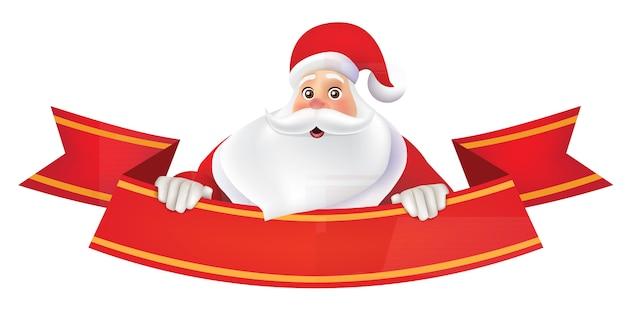 Vrolijke kerstmis achtergrond met santa claus