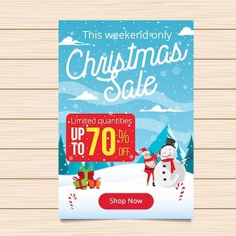 Vrolijke kerstmis banner verkoop illustratie