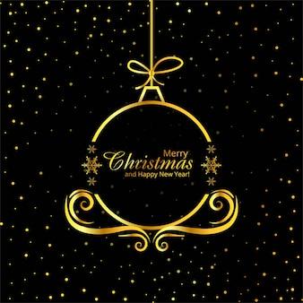 Vrolijke kerstmis decoratieve balvector als achtergrond