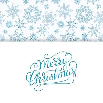 Vrolijke kerstmis en gelukkig nieuwjaar achtergrond met sneeuwvlokken.