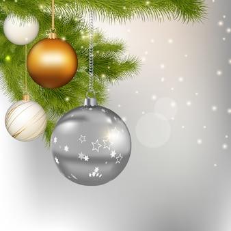Vrolijke kerstmis en gelukkig nieuwjaar achtergrond