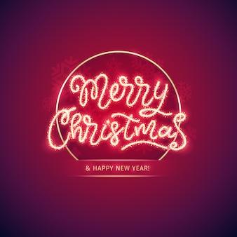 Vrolijke kerstmis en gelukkig nieuwjaar poster