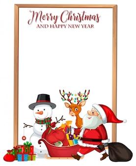 Vrolijke kerstmis en gelukkig nieuwjaarskaart