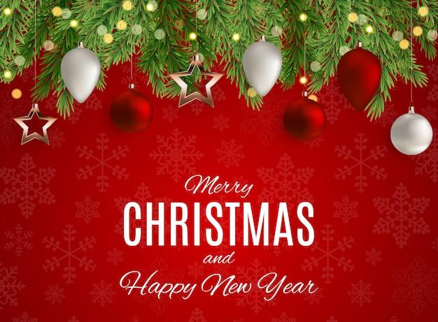 Vrolijke kerstmis en nieuwjaar achtergrond. vector illustratie