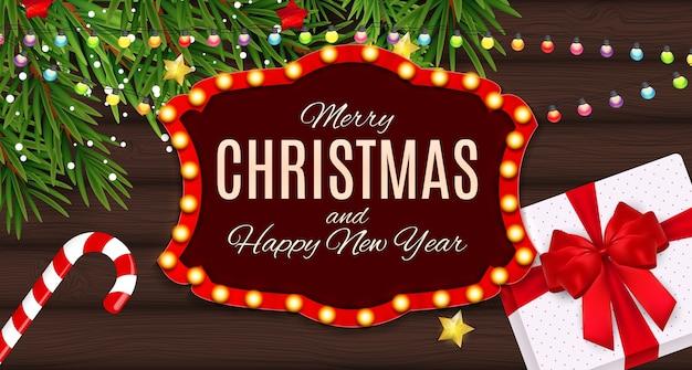 Vrolijke kerstmis en nieuwjaar achtergrond.