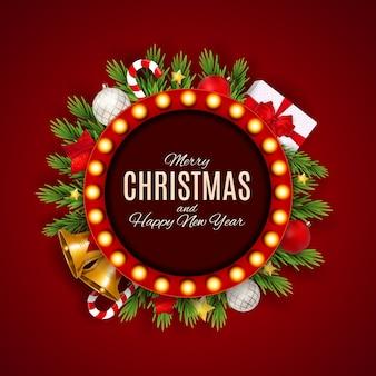 Vrolijke kerstmis en nieuwjaar achtergrond