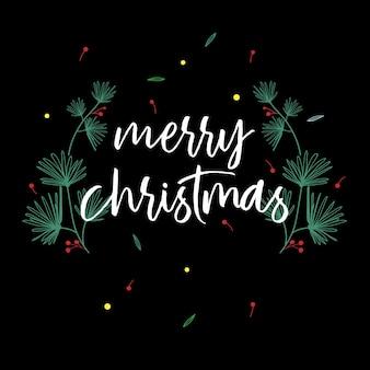 Vrolijke kerstmis en nieuwjaar decoratie achtergrond