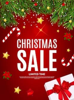 Vrolijke kerstmis en nieuwjaar verkoop poster