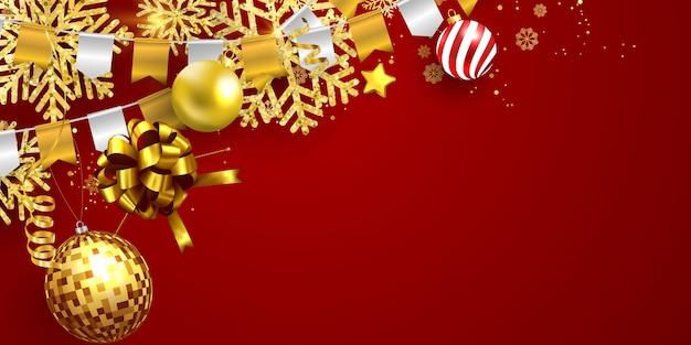 Vrolijke kerstmis en nieuwjaar xmas achtergrond