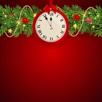 Vrolijke kerstmis en nieuwjaarachtergrond.