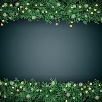 Vrolijke kerstmis en nieuwjaarachtergrond