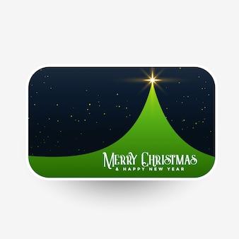Vrolijke kerstmis groene boom met sterren