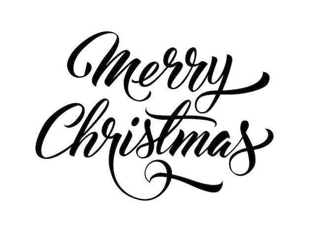 Vrolijke kerstmis handgeschreven tekst