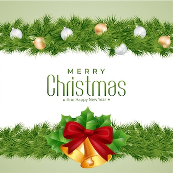 Vrolijke kerstmis met klokkenachtergrond