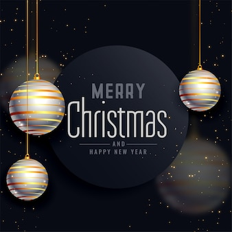 Vrolijke kerstmis mooie festivalgroet