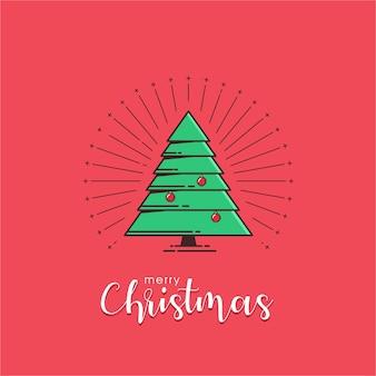 Vrolijke kerstmis op rode achtergrond