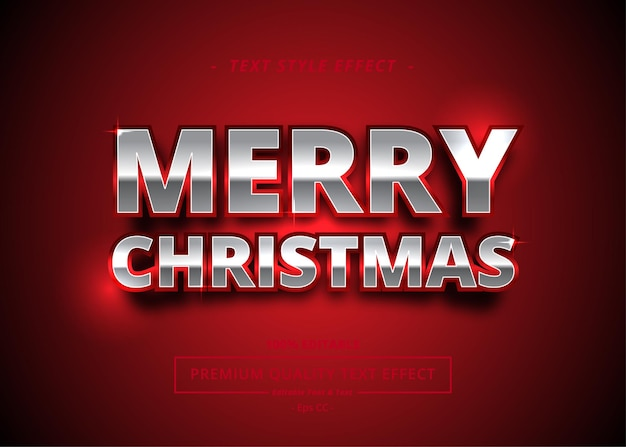 Vrolijke kerstmis tekst stijleffect