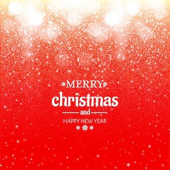 Vrolijke kerstmis van bokeh schittert festivalachtergrond