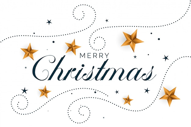 Vrolijke kerstmis witte achtergrond met gouden harten