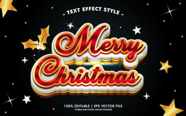 Vrolijke kerstmis zwarte gouden lichten tekst effecten stijl