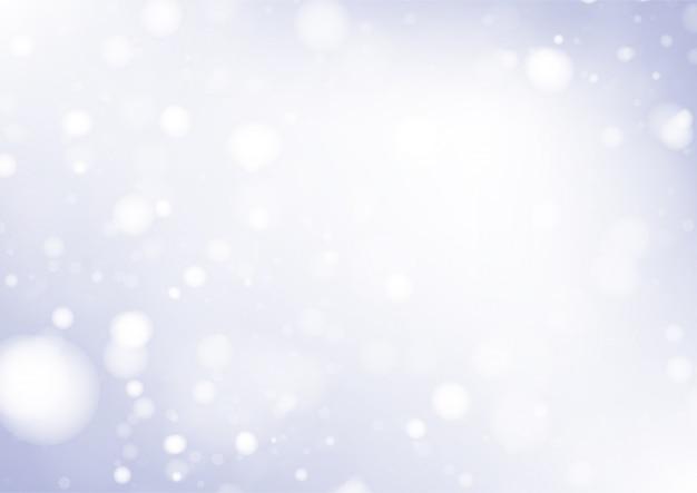 Vrolijke kerstmisachtergrond met witte bokehlichten