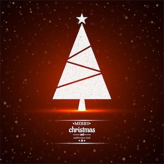Vrolijke kerstmisboom rode vector als achtergrond