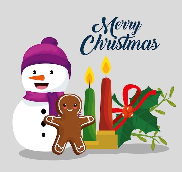 Vrolijke kerstmisdecoratie om vakantie te vieren