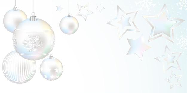 Vrolijke kerstmisillustratie met sterren en sneeuwvlokkenachtergrond