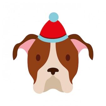 Vrolijke kerstmiskaart van de hond