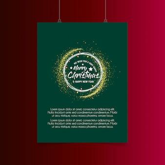 Vrolijke kerstmislichten barsten achtergrond