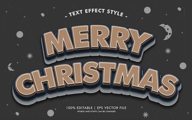 Vrolijke kerstmistekst effectenstijl
