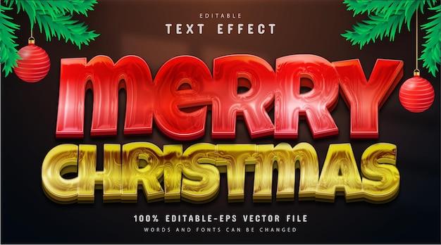 Vrolijke kersttekst, bewerkbaar teksteffect