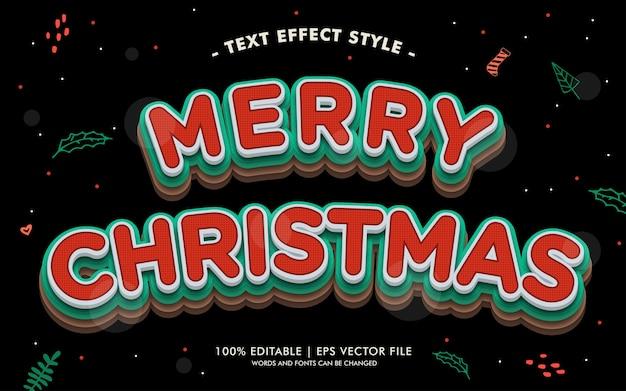 Vrolijke kersttekst effectenstijl