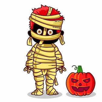 Vrolijke mummie voor halloween