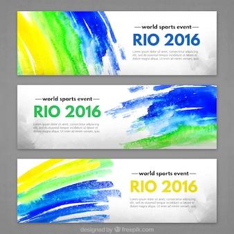 Vrolijke rio 2016 banners