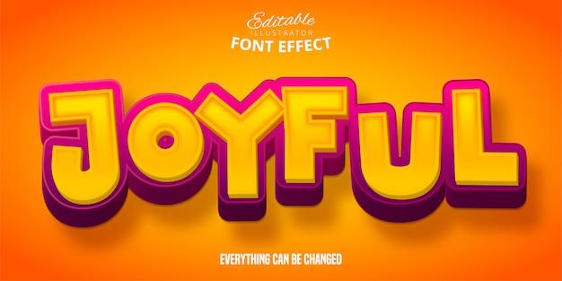 Vrolijke tekst, 3d-bewerkbare lettertype-effect