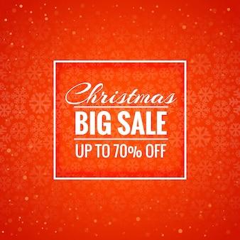 Vrolijke van de kerstmiskaart grote verkoop vector als achtergrond