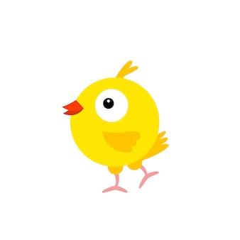 Vrolijke vogel gele kanarie