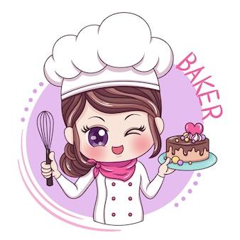 Vrouw baker