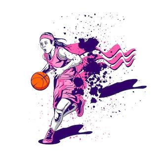 Vrouw basketbal