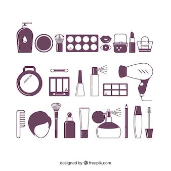 Vrouw beauty pictogrammen